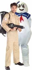 Ghostbuster And Mallow Man Fancy Dress Costumes
