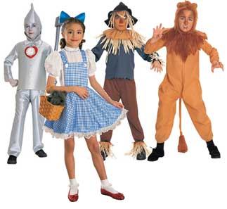 Wizard Of Oz Fancy Dress Costume For Kids  sc 1 st  Fancy Dress Clothes & Wizard Of Oz Fancy Dress Clothes For Kids Dorothy Costume Cowardly ...