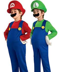 Mario And Luigi Fancy Dress Costumes For Twins  sc 1 st  Fancy Dress Clothes & Fancy Dress Clothes For Children Toddlers and Babies